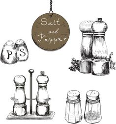 salt and pepper shaker drawings - Google Search
