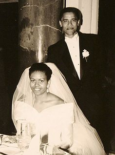 Always stylish, the Obamas tied the knot in 1992.
