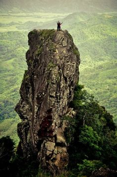 On top of the monolith, 15mins away from the summit of Pico de Loro, Cavite Philippines.