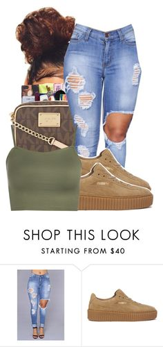 """""""I'm a dog"""" by ayeeitsdessa ❤ liked on Polyvore featuring Puma and WearAll"""