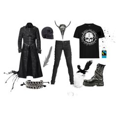 df21145732d Gothic evil raven set for men