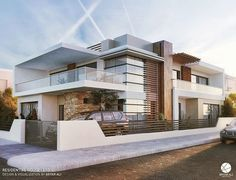 All Time Modern House Designs – My Life Spot Bungalow House Design, House Front Design, Modern House Design, Modern Architecture House, Architecture Design, Modern Mansion, Facade House, House Facades, House Exteriors