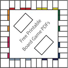16 Free Printable Board Game Templates. Hmm what kind of games should I make up?