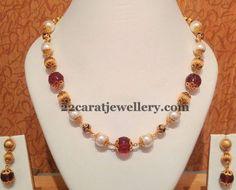 Jewellery Designs: Simple Beads Sets by Naj Jewellery