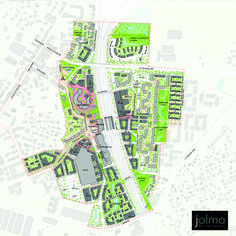 The Master Plan for Riihimäki Station Area brings together disparate and detached neighborhoods separated by the bisecting railway line. The plan reconciles Sustainable Transport, Sustainable City, Flood Mitigation, Urban Design Diagram, Linear Park, Green Street, Futuristic City, Circular Economy, Design Research