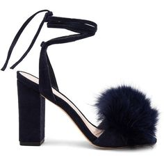 Loeffler Randall Nicolette Fox Fur Heel (€420) ❤ liked on Polyvore featuring shoes, pumps, heels, high heeled footwear, high heel pumps, loeffler randall, heel pump and loeffler randall shoes