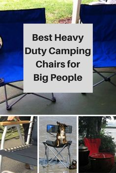 best heavy duty camping chairs for big people over 250 pounds. Finding camping gear when your are large can be difficult, here some extra strong camping chairs that will be both comfortable and safe. Camping Guide, Camping And Hiking, Family Camping, Camping Chairs, Tent Camping, Camping Gear, Outdoor Camping, Camping Lanterns, Diy Camping