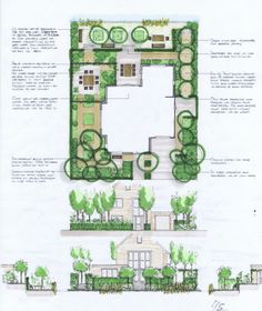 Integrated, geometric landscape site plan for a new Dutch house, with varied dining areas and canal side seating suitable for entertaining and everyday relaxation. Garden Design Plans, Landscape Design Plans, Landscape Architecture Design, Yard Design, Plant Design, Landscape Sketch, Landscape Drawings, Landscaping Supplies, Garden Landscaping