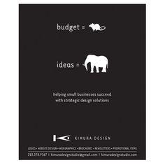 Self promotional print ad.