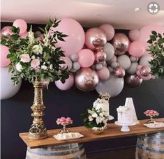 """Boutique Balloons """"these colours are just too good not to share again"""" Shower Party, Baby Shower Parties, Bridal Shower, 21st Birthday, Girl Birthday, Birthday Parties, Birthday Ideas, Decoration Communion, Festa Party"""
