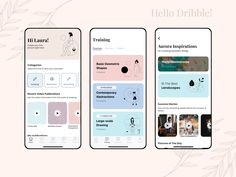 I'm Inna and I'm an UI UX Designer from Ukraine. Happy to be here! This is my first shot. The app concept consist of finding inspiration and news from art's world. It was created for artis. Mobile Application Design, Mobile Ui Design, App Ui Design, User Interface Design, Web Design, Event App, App Design Inspiration, Ui Ux, Ux Designer