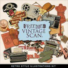 Scrapbooking TammyTags -- TT - Designer - Far Far Hill, TT - Item - Element, TT - Theme - Vintage