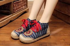 2016 Autumn New Embroidery Linen Shoes Old BeiJing Chinese handmade embroidered shoes ethnic single shoes