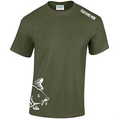 Personalised Fishing T-Shirt Carp Fishing T-Shirt Father's Fishing Outfits, Fishing T Shirts, Carp Fishing, Clothing, Mens Tops, Outfit, Clothes, Outfit Posts, Outfits