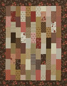 Stacked Rectangles Quilt - might be easy enough for me - totally diff fabrics.
