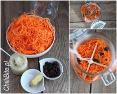 ChilliBite.pl - motywuje do gotowania!: Marchewka kiszona z imbirem i miodem Nom Nom, Spaghetti, Gluten Free, Canning, Ethnic Recipes, Winter, Glutenfree, Winter Time, Sin Gluten