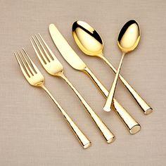 Marchesa by Lenox Caviar Gold flatware