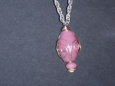 Spring Pink Glass Bead Necklace by OurBeadedCharms on Etsy, $18.99