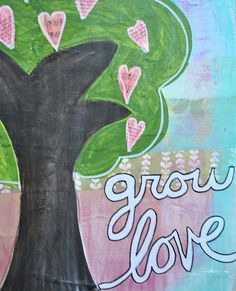 A beautiful tree that is growing love.