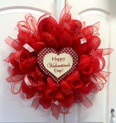 ... deco mesh wreath 56 00 sold 20 happy valentine s day deco mesh wreath