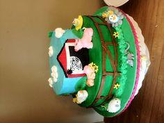 Charlottes web baby shower cake
