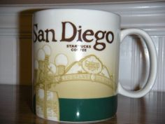 Starbucks Coffee Mug Global Icon Series San Diego 2011