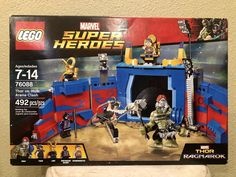 Two LEGO® sets have been leaked from the upcoming Thor Ragnarok film, and they are both pretty spiffy. The sets are based on the big battle with Hela seen Ms Marvel, Marvel Avengers, Marvel Art, Marvel Memes, Film Thor Ragnarok, Power Rangers, Legos, Lego Dc Comics, Superman