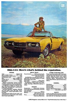 1968 Oldsmobile 4-4-2 ad poster