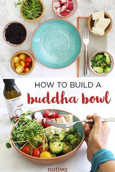How to Build a Buddha Bowl - A colorful, Vegan, and delicious Buddha Bowl to inspire your day, and help fill both the stomach and soul. #buddhabowl #salad #garlic #coconutoil #recipe #vegan Liquid Coconut Oil, Organic Snacks, Superfood Salad, Summer Grilling Recipes, Hemp Protein, Hazelnut Spread, Buddha Bowl, Vegan Recipes, Free Recipes