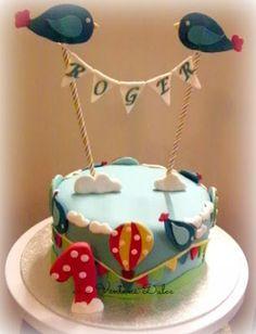 la ventana dulce tarta primer cumpleaos