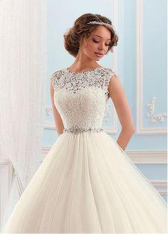 Rabatt Junoesque Tulle Bateau-Ausschnitt Ballkleid Brautkleid bei Dressilyme.com bekommen