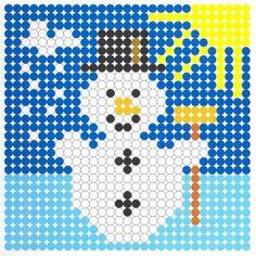 Kralenplank sneeuwpop