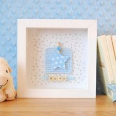 Personalised Blue Star Frame