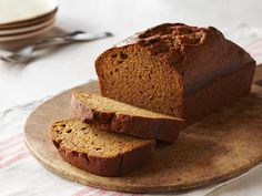 Pumpkin Bread : Dress up slices of pumpkin bread with whipped cream or ice cream for dessert, or serve it for breakfast on Thanksgiving morning.