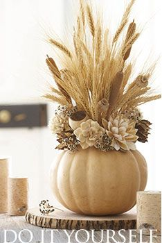 Craft / How-to Portfolio - white pumpkin centerpiece