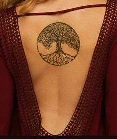 Absolutely Superb Celtic Tree Tattoo on Back for Women Love Life Fun Pretty Tattoos, Love Tattoos, Sexy Tattoos, Beautiful Tattoos, Body Art Tattoos, Small Tattoos, Tattoos For Women, Celtic Tattoo For Women, Tatoos