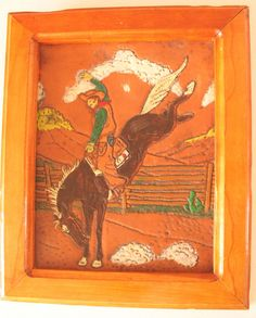 Rodeo Horse Riding / Beautiful Vintage Leather by POTUKS on Etsy