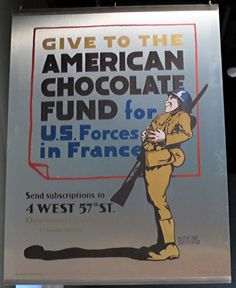 Give to the American Chocolate Fund, WWII poster from Chocolate The Exhibition at the Denver Museum of Nature & Science. Denver Museum, American Chocolate, Historical Photos, Old Photos, Wwii, Science, History, Nature, Poster