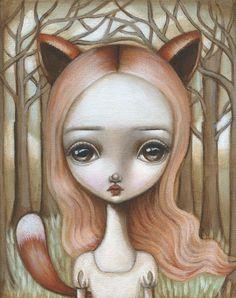Fox Girl by Lauren Saxton (Fair Rosamund Art)