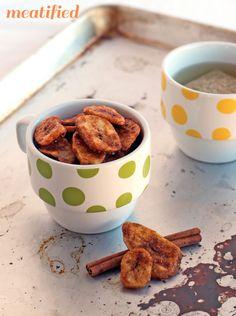 Cinnamon Baked Banana Chips from http://meatified.com #paleo #glutenfree