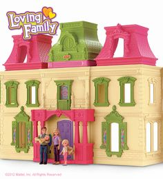 Loving Family™ Dream Dollhouse: Magical touches and easy to fold with all accessories inside!