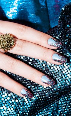 Commander in Chic, nail lacquer, glitter