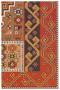 Pattern No.0574-1 Cross Stitch Borders, Cross Stitch Patterns, Granny Square Projects, Pixel Crochet, Big Rugs, Cross Stitch Pictures, Needlepoint Designs, Tapestry Crochet, Bargello