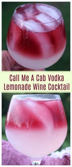 Call Me A Cab Vodka Lemonade Wine Cocktail