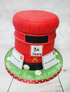 Post Box Cake, 50th Birthday, Birthday Cakes, Best Boss Ever, Leaving Gifts, Custom Cakes, Cake Designs, Christening, Retirement