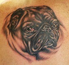 Pathetic pug tattoo