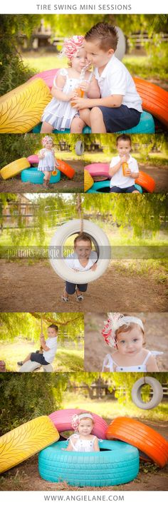 Tire Swing Mini Sessions. Portraits by Angie Lane