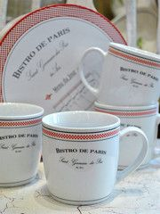 Bistro de Paris Mugs - set of 4