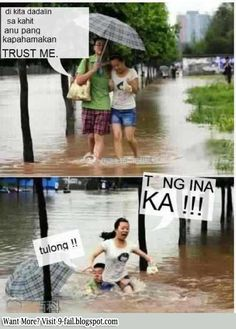 Romantic walk gone wrong Funny Pix, Funny Sites, Funny Relatable Memes, Funny Pictures, Funny Stuff, Hilarious, Memes Pinoy, Memes Tagalog, Pinoy Quotes