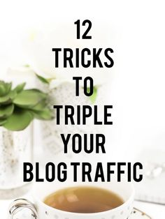 12 TRICKS TO TRIPLE BLOG TRAFFIC Note: This post contains affiliate links. This means that I may receive a small commission (at no cost to you) if you subscribe or purchase something through the links provided. You will never see me post a link to a product or service that I don't use myself or truly …